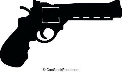 The heavy long revolver