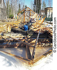 The heavy snow load of the disastrous winter of 2019 destroyed many greenhouses in Russia.