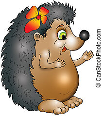 The hedgehog - The cheerful hedgehog