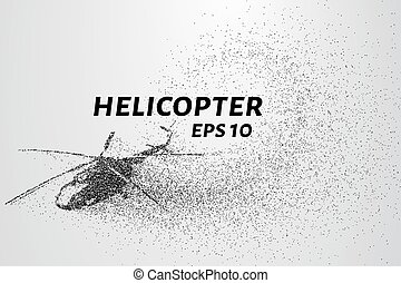 The helicopter of the particles. Transport helicopter...