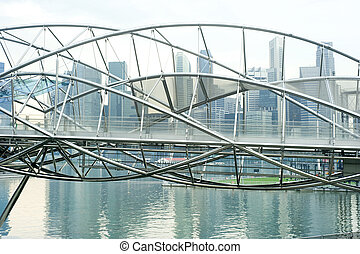 The Helix Bridge , previously known as the Double Helix ...