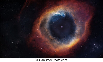 The Helix Nebula in deep space. Elements of this image...