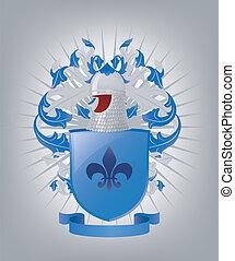 The heraldic arms.