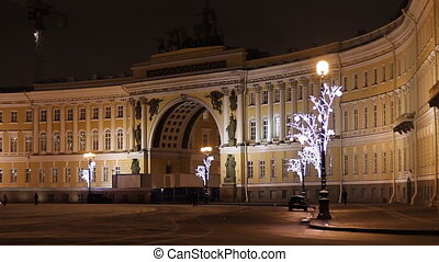 The Hermitage, Dvortsovaya Square in St. Petersburg (Russia)...