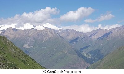 The highest point of Europe, Mount Elbrus. Panorama from the...