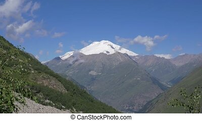 The highest point of Europe, Mount Elbrus. View from the...