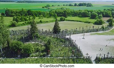 The Hill of Crosses. It is a site of pilgrimage. Siauliai....