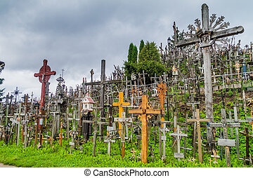 The Hill of Crosses, pilgrimage site in northern Lithuania