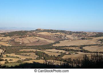 The hills around Pienza and Monticchiello  Tuscany, Italy.