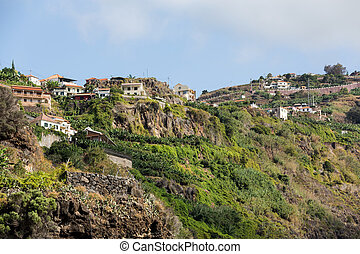 The hills near Ribeira Brava on Madeira Island. Portugal