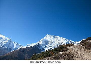 The Himalaya mountain peaks