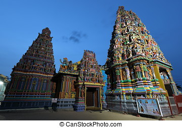 The Hindu Temple of Trincomalee in Sri Lanka
