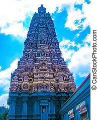 The Hindu temple tower in Colombo. Sri Lanka.