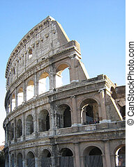 colosseo - the historic building of the colosseo, rome,...