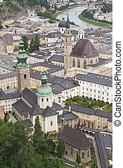 The historic center of Salzburg.