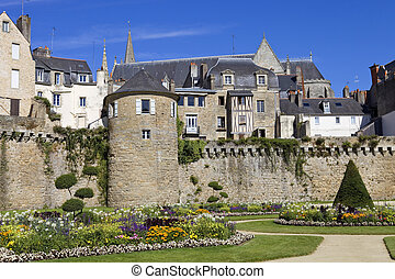 Vannes - The historic city of Vannes in Brittany, France