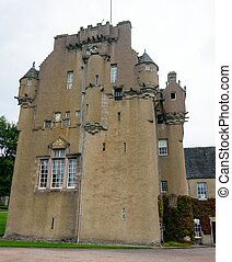 Crathes Castle in the Grampians region of Northern Scotland