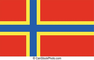 The historic flag of Orkney - The colorful historic flag of...
