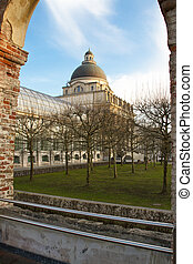 """The historic government building """"Staatskanzlei"""" in Munich, Germany"""