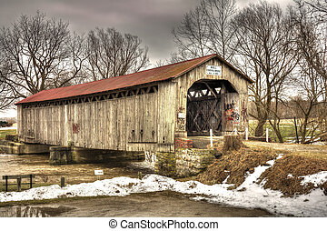 Mull Covered Bridge - The historic Mull Covered Bridge in...