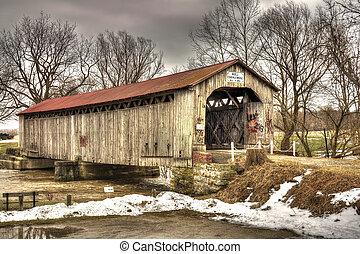 Mull Covered Bridge - The historic Mull Covered Bridge in ...