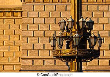 The historic street lamp