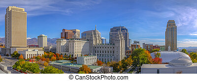 The historic Temple Square in Salt Lake City Utah