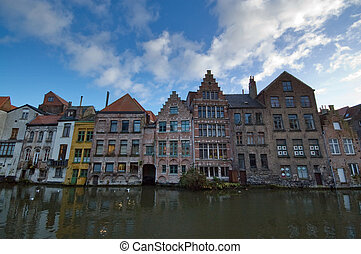 Ghent - The historic town of Ghent, Belgium