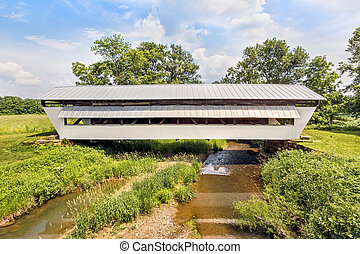 Hannaway Covered Bridge - The historic white Hannaway...