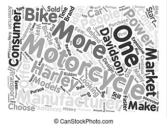 The History of Motorcycles text background word cloud concept