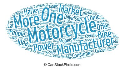 The History of Motorcycles text background wordcloud concept