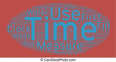 The History of the Watch text background wordcloud concept