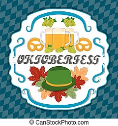 The holiday Oktoberfest - The vector logo for bar banner...