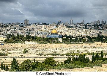 The holy city Jerusalem