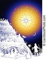 Nativity Scene in Bethlehem