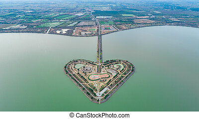 The Holy Heart Land - Talayluang in Sukhothai, Thailand. ...