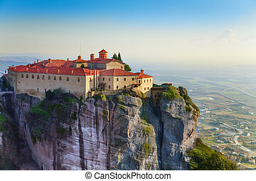 The Holy Monastery of Varlaam, Greece - The picture of the...