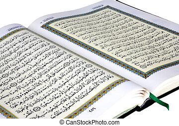 The Holy Quran - Isolated image of the holy Quran.