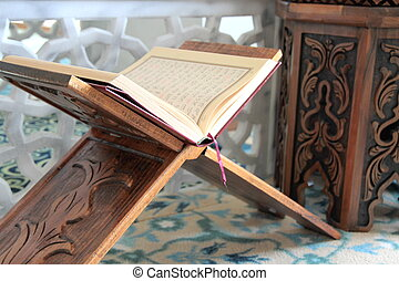 The Holy Quran close up image
