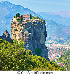 Holy Trinity monastery on the rock in Meteora - The Holy ...