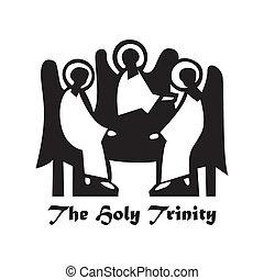 The-Holy-Trinity - Illustration - The Holy Trinity. Icon:...