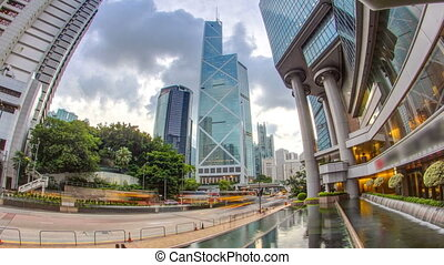 The Hong Kong Corporate Buildings day timelapse with...