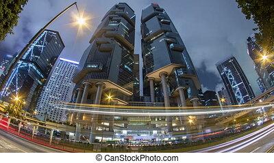 The Hong Kong Corporate Buildings night timelapse hyperlapse...