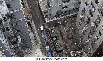 THE HONG KONG DIRTY BUILDINGS - Top view of dirty buildings...