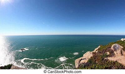 The horizon and the deep blue sea ocean