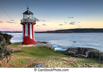The Hornby Lighthouse, Sydney Australia - The beautiful red...