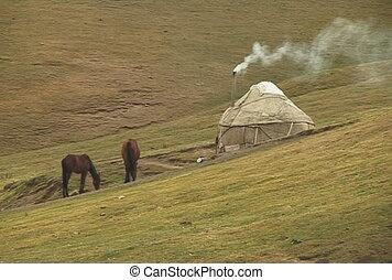 The Horsecar in mountain.