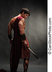 the hot highlander man - the highlander warrior awaits