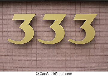 House address plate number 333