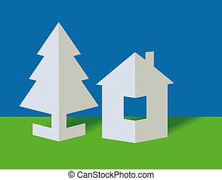The house and fir